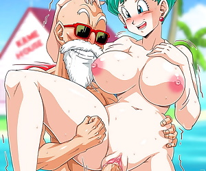 comics Bulma At Kames House, ahegao