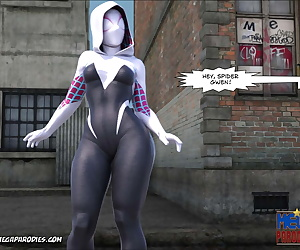 english comics Mega Parodies Comics Collection Spider.., gwen stacy , 3d , english