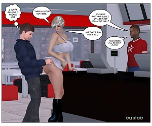 comics Dubh3D- Marie Claude Restaurant, blowjob , 3d  interracical