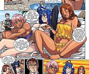 comics JMM Beach n Bitches 2, blowjob , group  interracical
