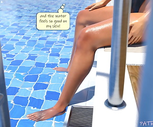 comics psmike- Poolside Swimsuit Fisting, swimsuit , masturbation