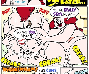 comics Porking, threesome , incest  mother