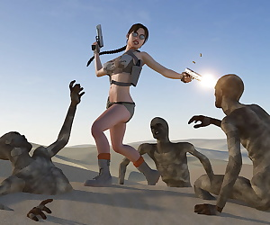 comics Lara Desert, lara croft , rape , blowjob  group